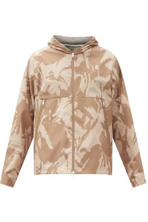 Moncler Men Coats - Camouflage-print Shell Hooded Jacket - Mens