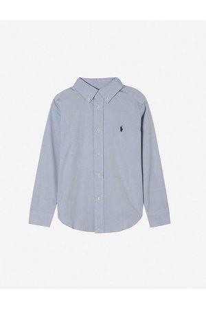 Ralph Lauren Boys Custom Fit Long-Sleeve Shirt