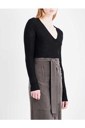 Joseph Womens Cashair V-neck Oversized Cashmere Jumper XXS