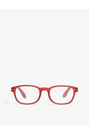 Izipizi Mens #B Reading Rectangle-frame Glasses +2