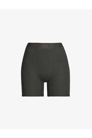 SKIMS Ladies Black Cotton Rib Boxers