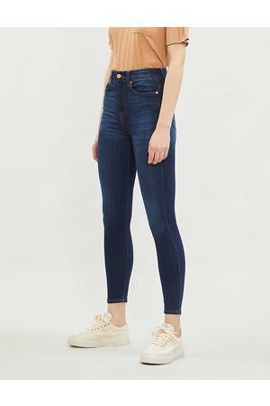7 for all Mankind Womens Starlight Aubrey Skinny High-rise Jeans 23