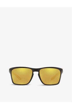 Oakley Womens OO9448 Sylas Polarised Rectangular-frame Acetate Sunglasses
