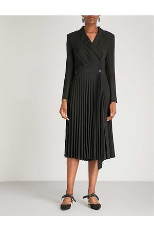 Sandro Womens Blazer-style Woven Midi Dress 6