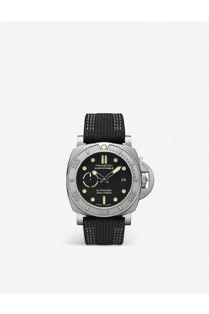 PANERAI Mens PAM00984 Submersible Mike Horn EcoTitanium™ or TM and Fabric Watch 1 Size