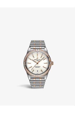Breitling Womens & Rose U10380591A1U1 Chronomat Automatic 36 Stainless Steel