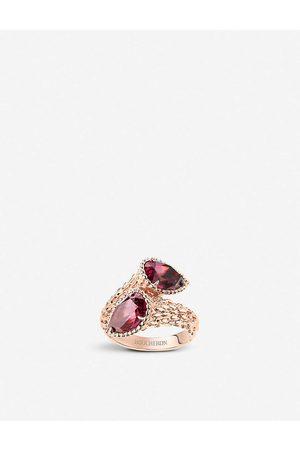 Boucheron Womens Serpent Bohème -gold and Rhodolite Garnet Ring 50mm