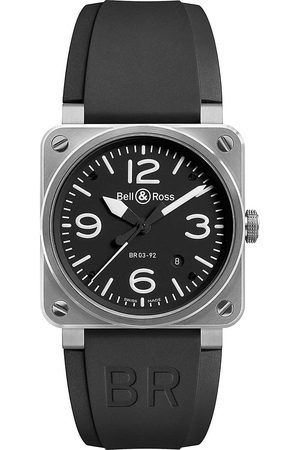 Bell & Ross Mens Br0392Blst Stainless Steel And Rubber Strap