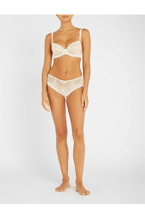 Wacoal Naturally Nude Floral Embrace Lace Stretch-Lace Underwired Bra