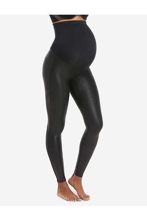Spanx Womens Very Mama Faux-leather Leggings XS