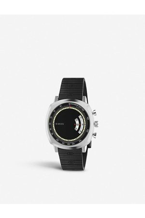 Gucci Mens YA157301 Grip Stainless Steel and Rubber Watch
