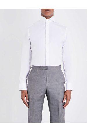 Eton Mens Slim-fit Single-cuff Cotton-twill Shirt 14.5
