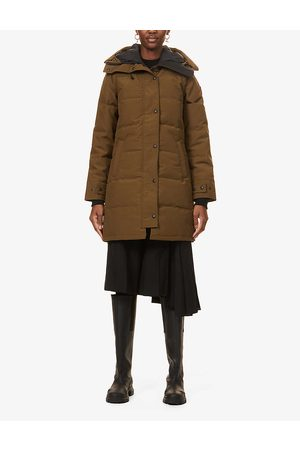 Canada Goose Womens Military Shelburne Hooded Shell-down Parka XS