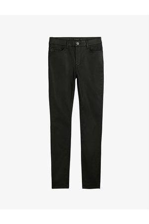 Ted Baker Womens Lethera Wet-look Stretch-cotton Skinny Jeans 32