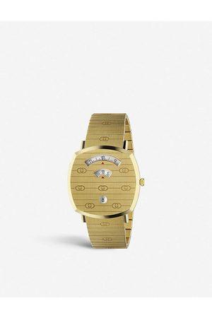 Gucci Mens YA157409 Grip Yellow-gold PVD Watch