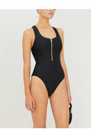 Heidi Klein Womens Drk-blk Core Scoop-neck Swimsuit XS