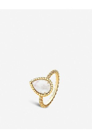 Boucheron Womens Serpent Bohème -gold and Mother-of-pearl Ring 48mm