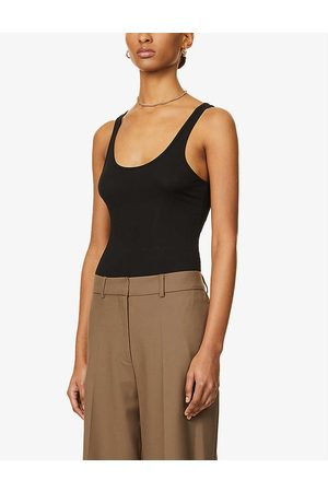 James Perse Womens The Daily Stretch-cotton Tank top XS