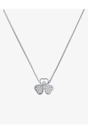 Chopard Womens Happy Hearts Wings 18ct - and Diamond Necklace