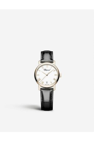 Chopard Classic 18ct rose-gold and alligator-leather watch