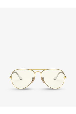 Ray-Ban Mens RB3025 Everglasses Clear Evolve Aviator-frame Metal Sunglasses