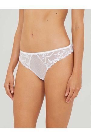 Aubade Womens Blanc Au Bal Mid-rise Stretch-lace Briefs L