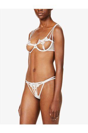BlueBella Womens Ivory (Cream) Nova Cut-out Stretch-lace bra 30B