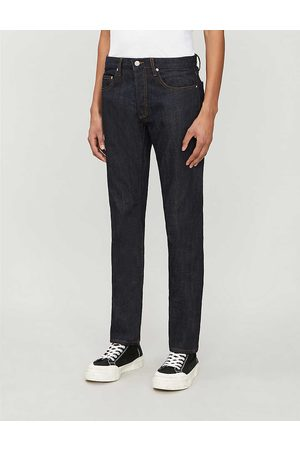 Sandro Mens Raw Denim Regular-fit Tapered Jeans S