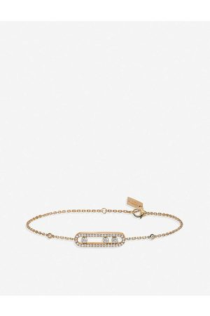 MESSIKA Womens Baby Move 18ct Rose-gold and Pave Diamond Bracelet