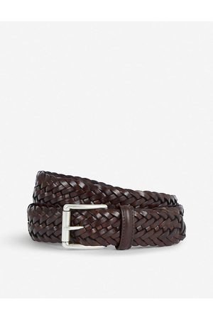 Anderson's Mens Woven Elastic and Leather Belt 34