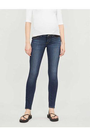 Paige Ladies Leather Denim Nottingham Verdugo Maternity Skinny Mid-Rise Jeans