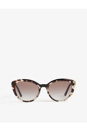 Prada Womens PR02V Cat-eye-frame Sunglasses