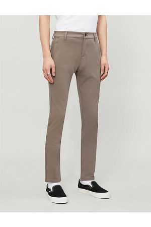 Paige Mens Dark Taupe Stafford Stretch-woven Trousers 29
