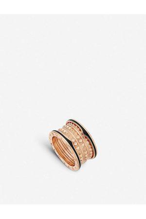 Bvlgari Womens Rose B.zero1 18ct Rose- and Ceramic Ring 49mm