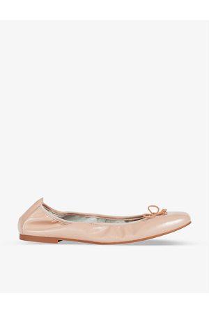 LK Bennett Womens Bei-trench Trilly Patent Leather Ballerina Flats EUR 37 / 4 UK Women