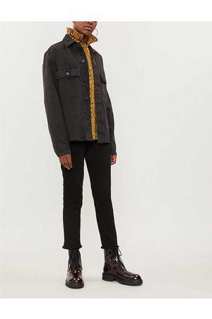Zadig & Voltaire Womens Noir Ava Raw-hem Skinny High-rise Jeans 25