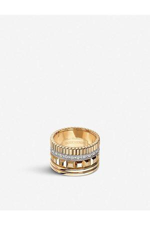 Boucheron Mens Quatre Radiant Edition 18ct Yellow-Gold And Diamond Ring