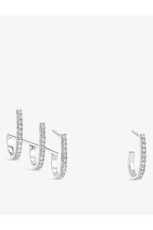 MESSIKA Womens Gatsby 18ct - and Diamond Earrings