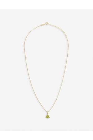EDGE OF EMBER Womens Peridot Charm 18k -plated Necklace