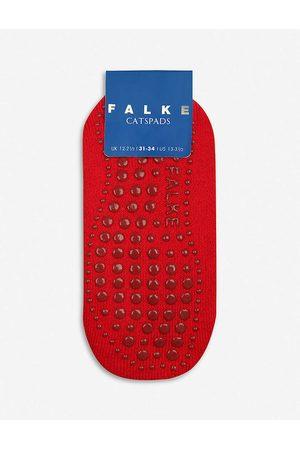 Falke Boys Fire Kids Catspads Stretch Cotton-blend Slipper Socks Years 3+ 23-26