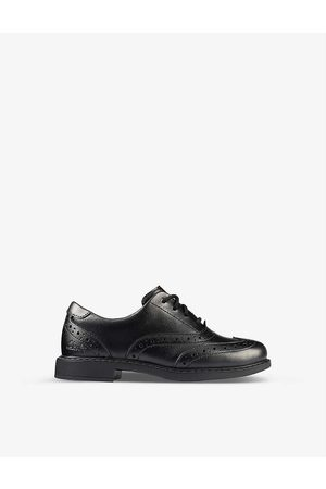 Clarks Boys Leather Kids Scala Brogue Kid Leather Derby Brogues 5-8 Years 1F