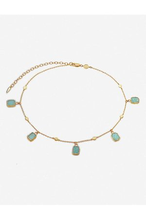 Missoma Women Bracelets - Lena 18ct yellow -vermeil and amazonite choker necklace