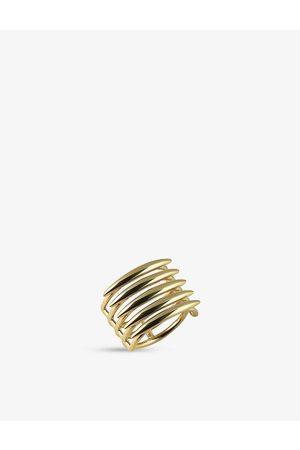 SHAUN LEANE Womens Vermeil Quill -plated Vermeil Silver Ring M