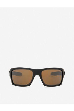 Oakley Women's Matte Turbine Polarised Prizm Square-Frame Wrap-Around Sunglasses