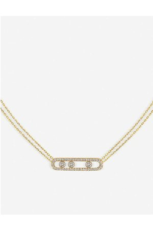 MESSIKA Womens Move Pavé 18ct -gold and Diamond Necklace