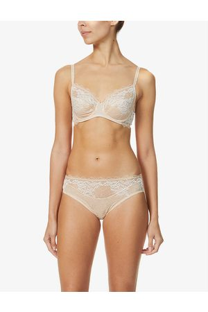 Wacoal Womens Cafe Creme Lace Perfection Stretch-lace Underwired bra 30D