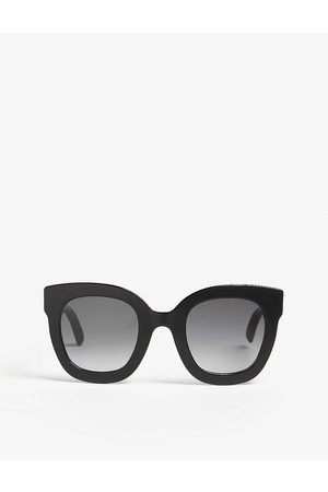 Gucci Womens Gg0208 Oval-frame Sunglasses