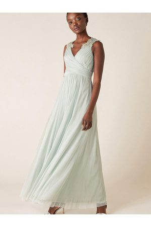 Monsoon Mischa Mesh Embellished Maxi Dress