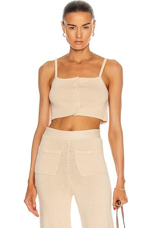 JoosTricot Button Down Cami in Sandstone