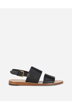 Dolce & Gabbana Men Sandals - Collection - CALFSKIN PANTHEON SANDALS male 44